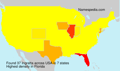 Familiennamen Ingratta - USA