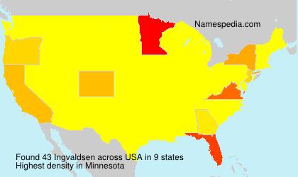 Surname Ingvaldsen in USA