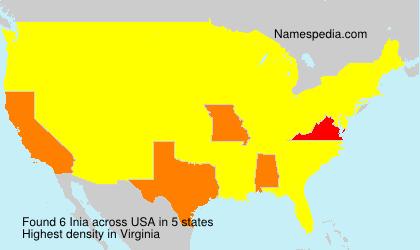 Familiennamen Inia - USA