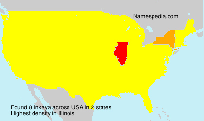 Surname Inkaya in USA