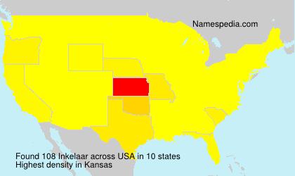 Surname Inkelaar in USA