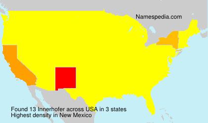 Familiennamen Innerhofer - USA