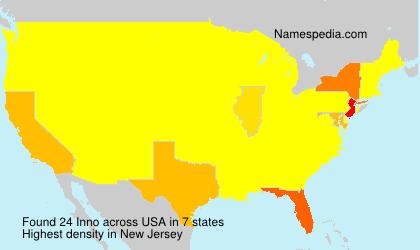 Familiennamen Inno - USA