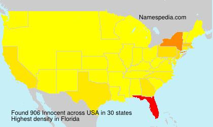 Familiennamen Innocent - USA