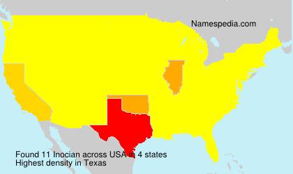 Familiennamen Inocian - USA