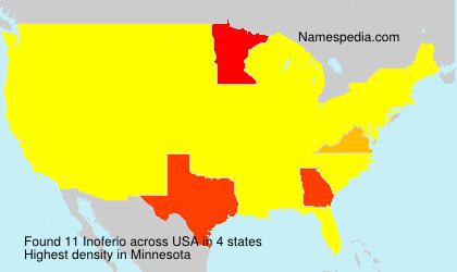 Familiennamen Inoferio - USA