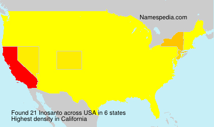 Familiennamen Inosanto - USA