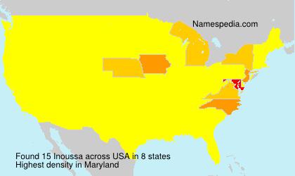 Familiennamen Inoussa - USA