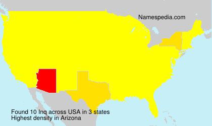Familiennamen Inq - USA