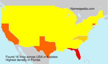 Surname Inrig in USA