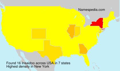 Familiennamen Insaidoo - USA