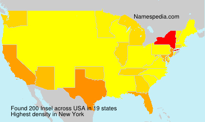 Surname Insel in USA