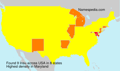 Surname Insu in USA