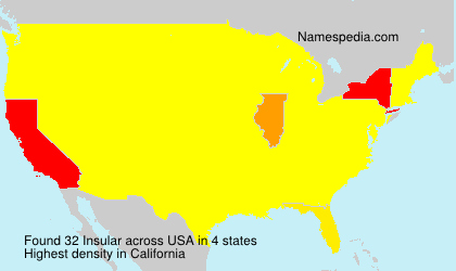 Surname Insular in USA