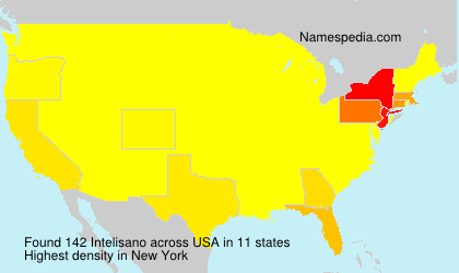 Surname Intelisano in USA