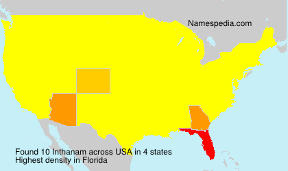 Surname Inthanam in USA