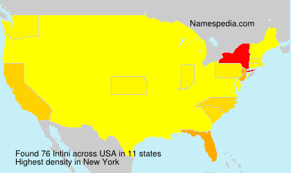 Surname Intini in USA
