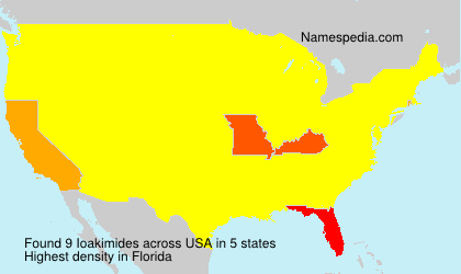 Surname Ioakimides in USA