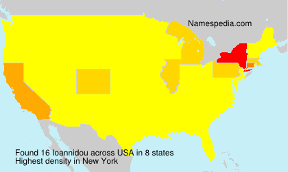 Surname Ioannidou in USA