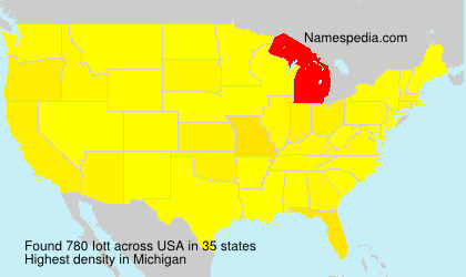 Surname Iott in USA