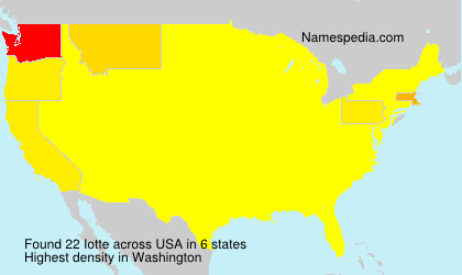 Surname Iotte in USA