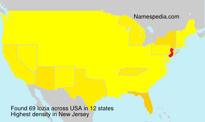 Surname Iozia in USA