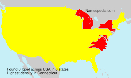 Surname Iqbel in USA