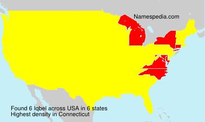 Familiennamen Iqbel - USA