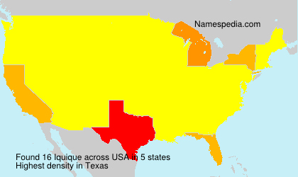 Surname Iquique in USA