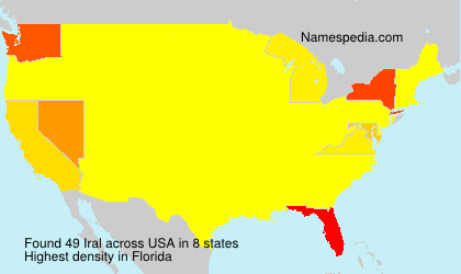Surname Iral in USA
