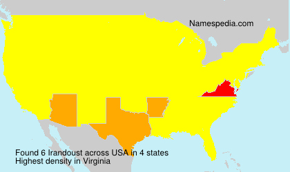 Surname Irandoust in USA
