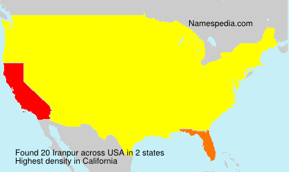 Surname Iranpur in USA