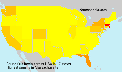 Surname Iraola in USA