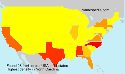 Surname Ireri in USA