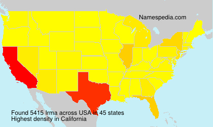 Familiennamen Irma - USA