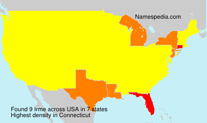 Surname Irme in USA