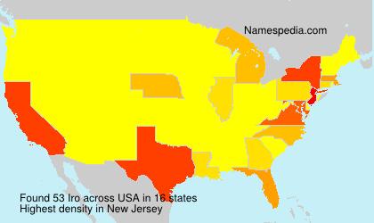 Familiennamen Iro - USA
