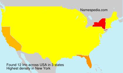 Surname Irto in USA