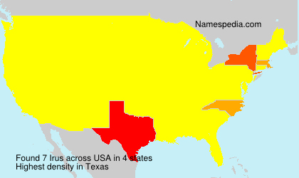 Surname Irus in USA