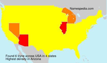 Familiennamen Iryne - USA