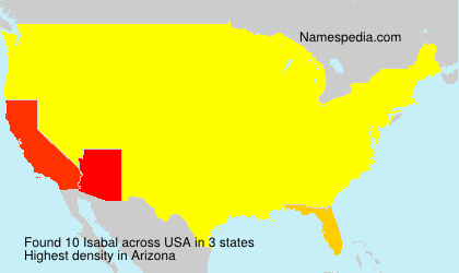 Surname Isabal in USA