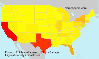 Familiennamen Isabel - USA