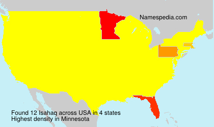 Surname Isahaq in USA