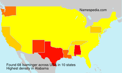 Surname Isaminger in USA