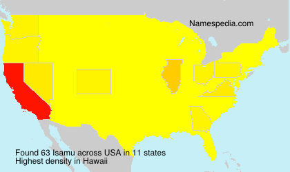 Surname Isamu in USA