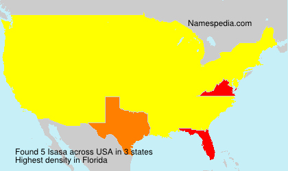 Surname Isasa in USA