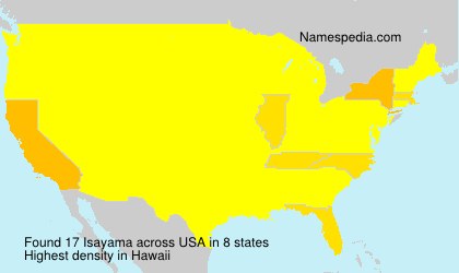 Surname Isayama in USA