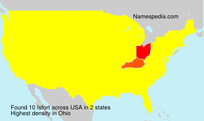 Surname Isfort in USA