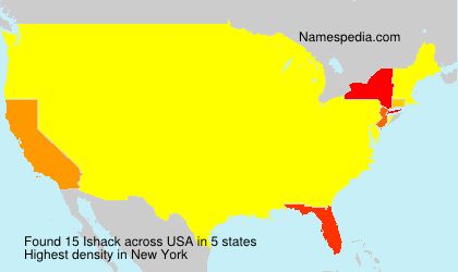Familiennamen Ishack - USA