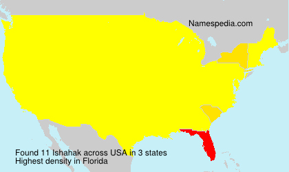 Surname Ishahak in USA